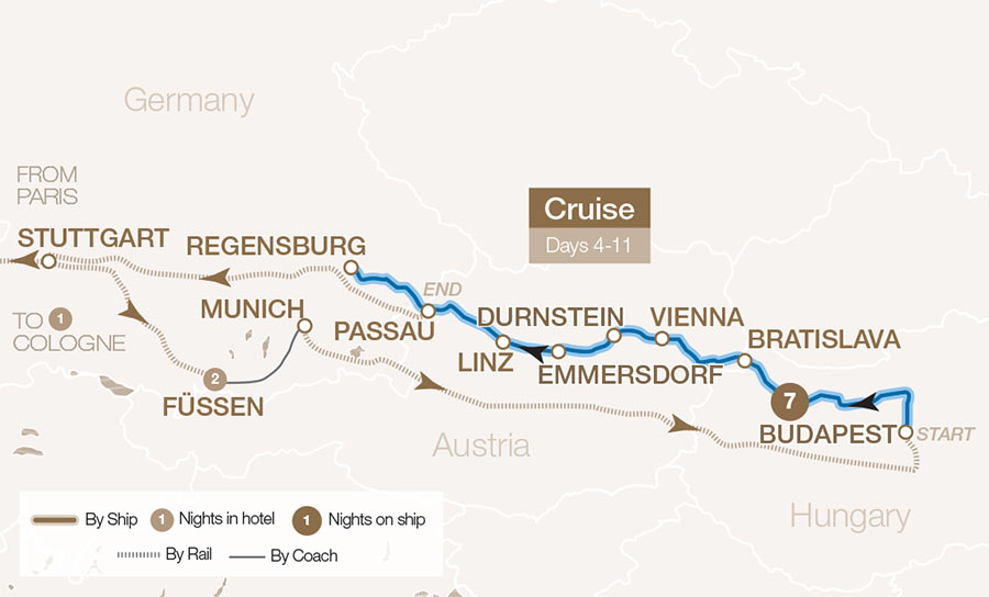 Oberammergau & Bavaria Map
