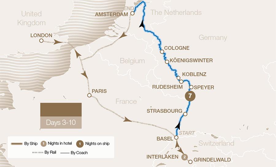 Jungfrau Map