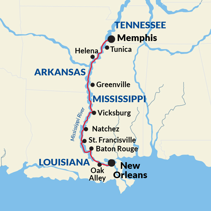Lower Mississippi Map