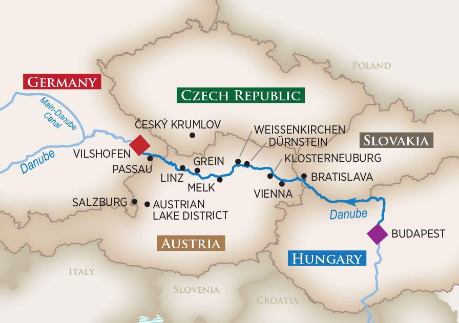 Melodies Danube Map