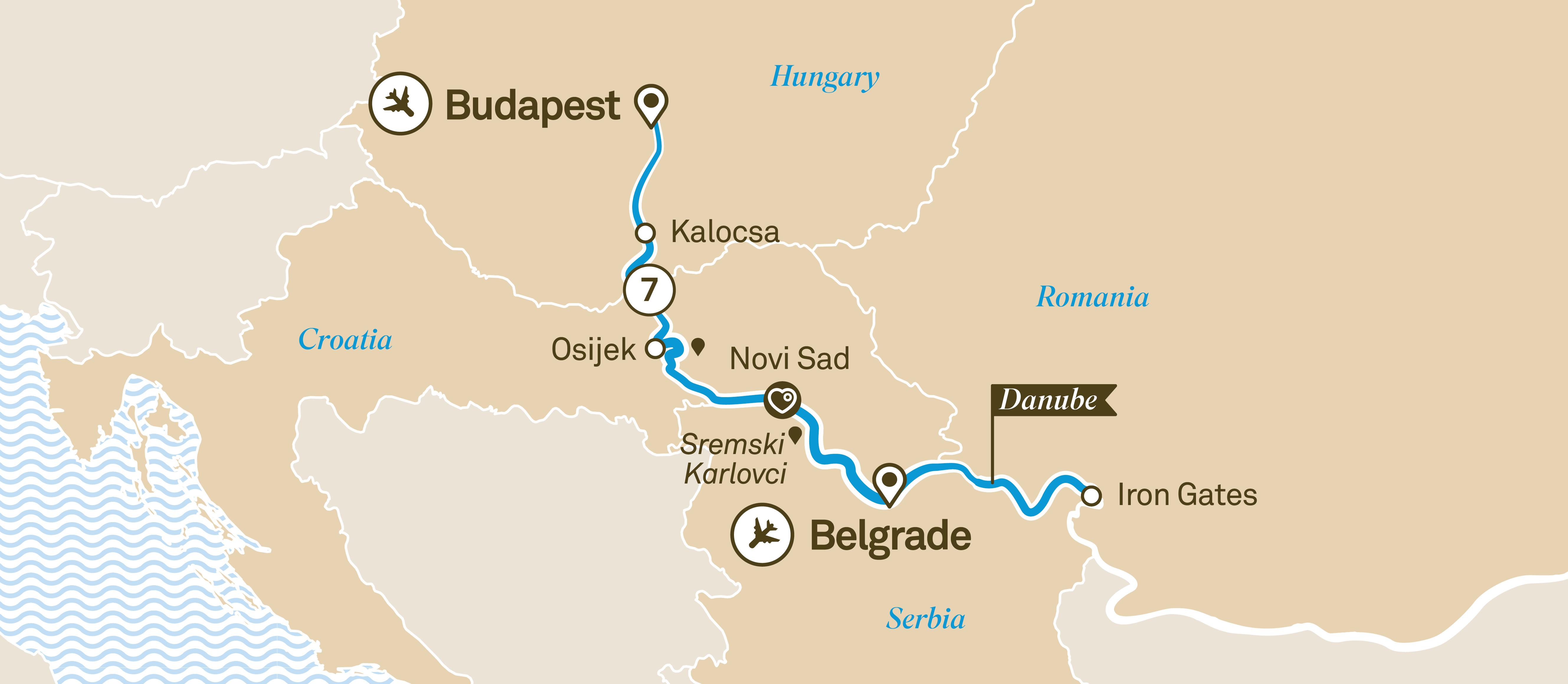 scenic Danube Explorer map