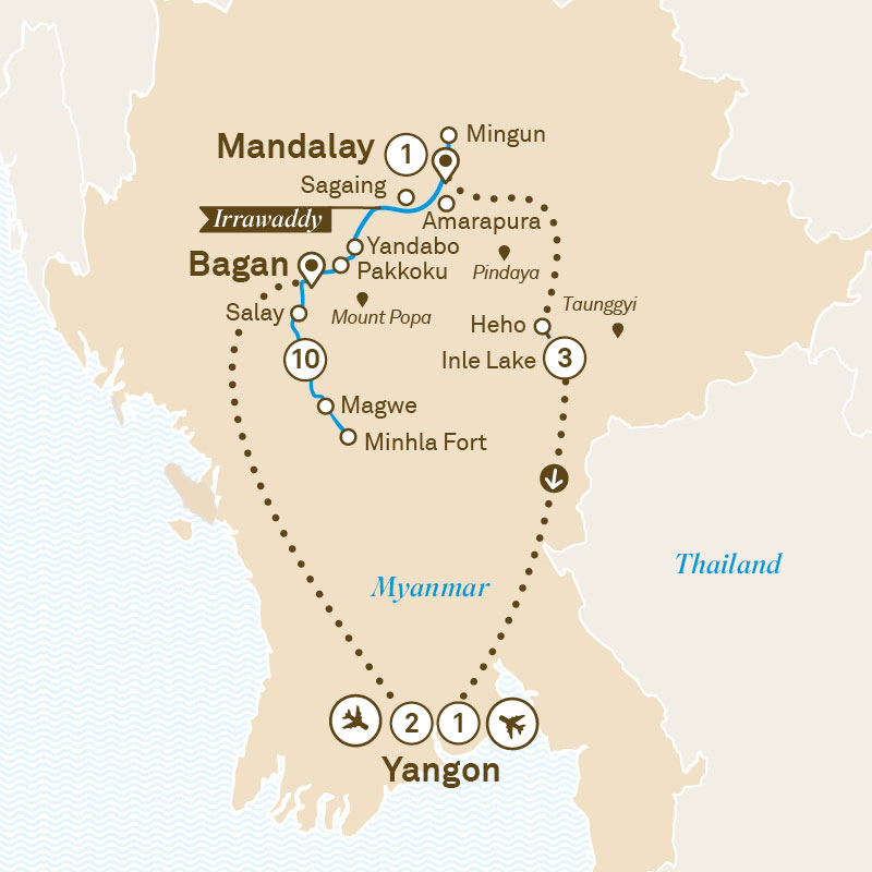 Mystical Myanmar Map