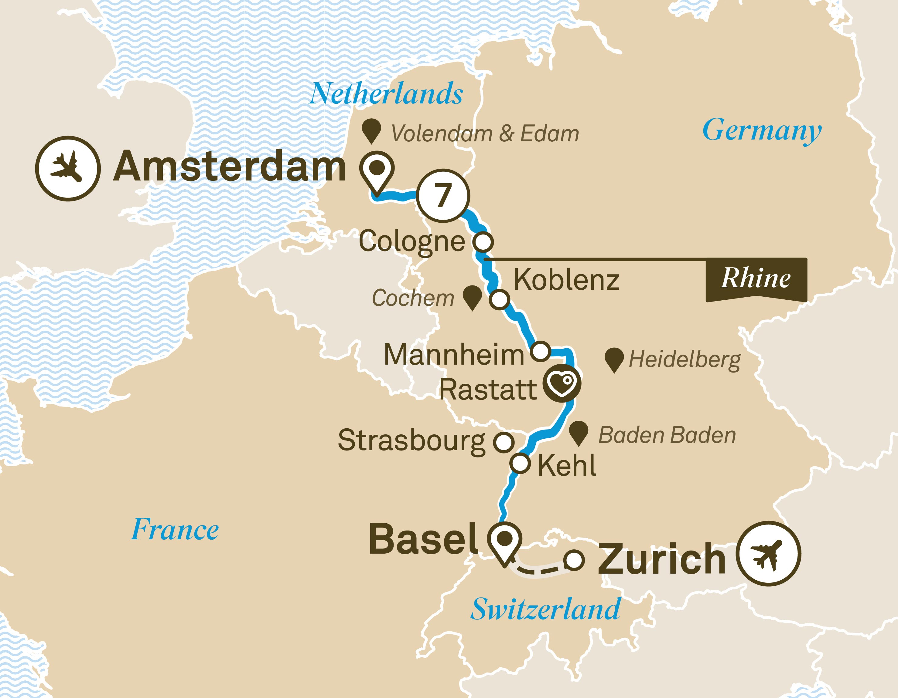 Rhine Christmas Markets 2020 Map