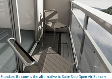 standard river cruise ship balcony