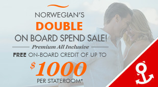Norwegian Cruise Line - up to $50 OBC + £50 Low Deposit!