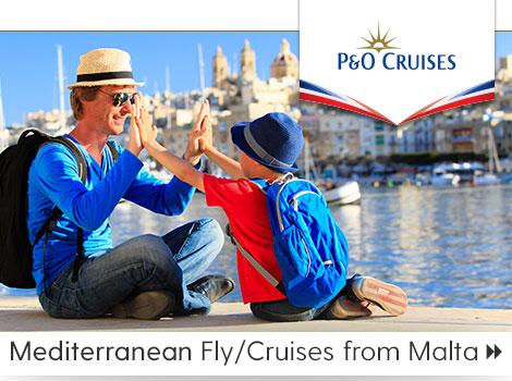 P&O Cruises Ship Oceana Mediterranean fly cruises Malta