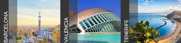 Barcelona Valencia Tenerife