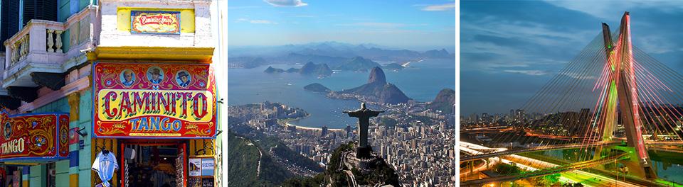 Buenos Aires, Rio De Janeiro & Sao Paulo