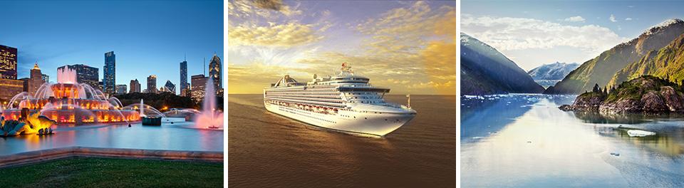 North American Scenes & Alaska - Cruise & Stays