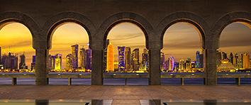 Dubai Skyline - Through Arches