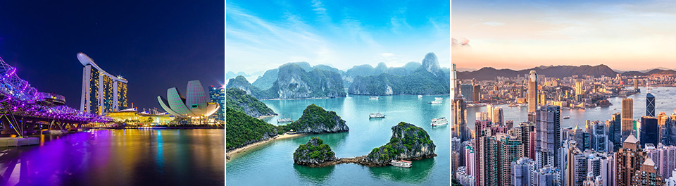Hong Kong, Vietnam & Singapore
