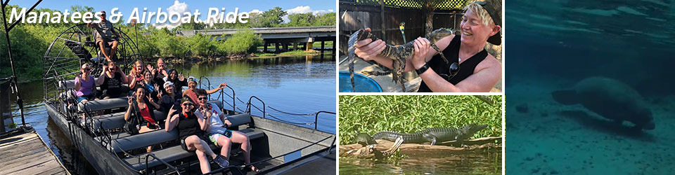 Swimming with Manatees, Crystal River, and Airboat Tour