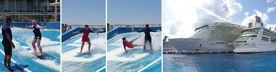 Flowrider and Allure of the Seas