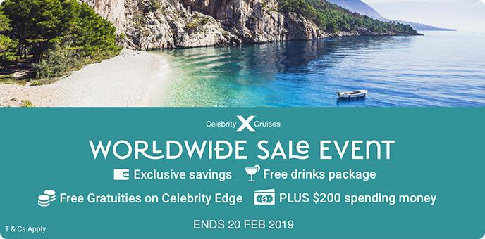 Celebrity Cruises - Free Drinks & Big Savings