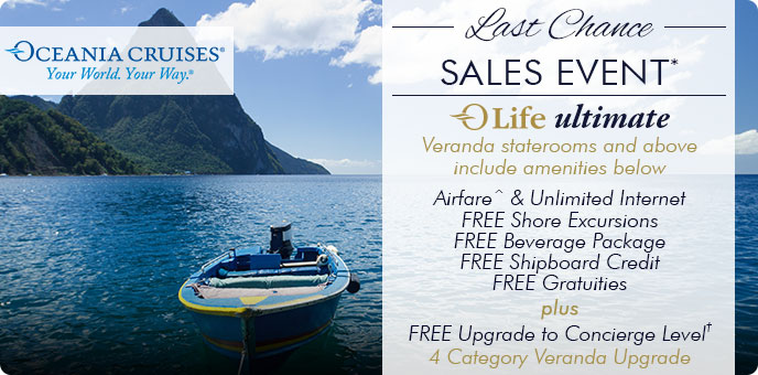 Oceania Cruises- OLife Ultimate + Flash Sale