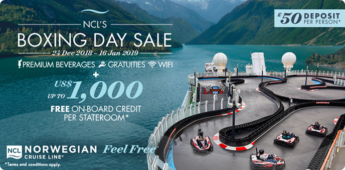 NCL Boxing Day Sale