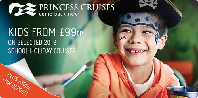 Princess Cruises - Back to school offer - school holidays