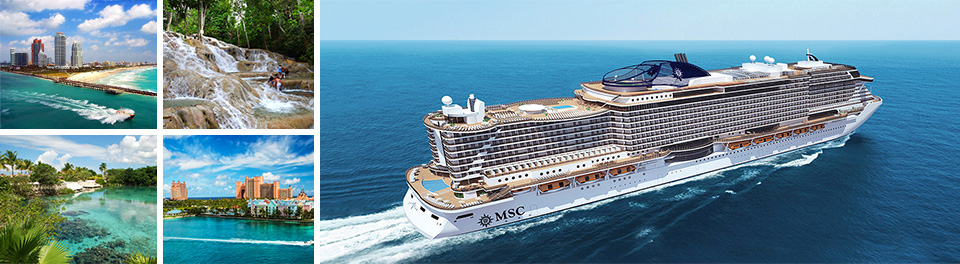 Miami & Western Caribbean cruises onboard MSC Seaside