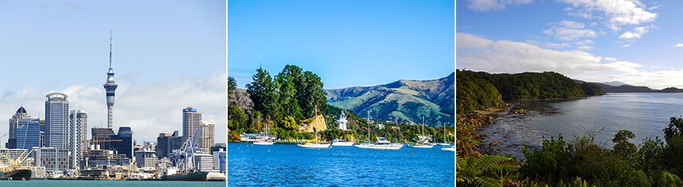 Auckland, Wellington & Great Barrier Reef