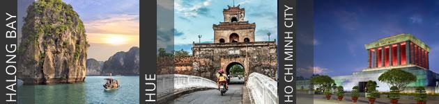 Halong Bay, Hue and Ho Chi Minh City