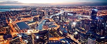Melbourne - Night Skyline
