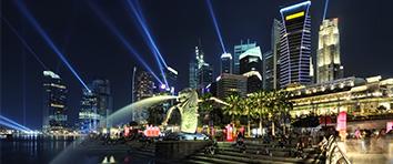 Singapore Marina at Night