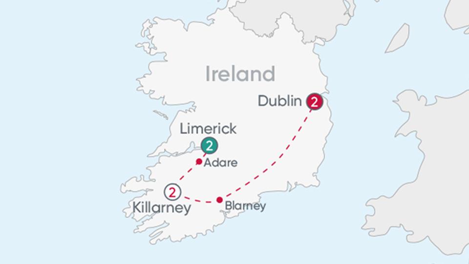 Ireland Explorer Map