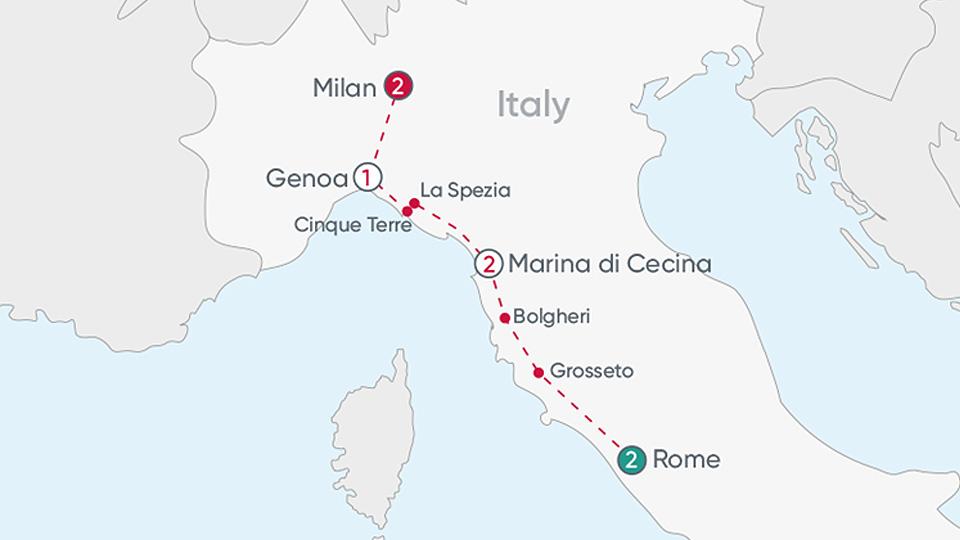 Italy Explorer Map