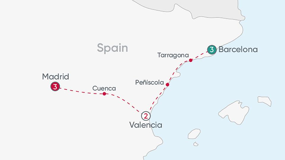 Spanish City Explorer Map