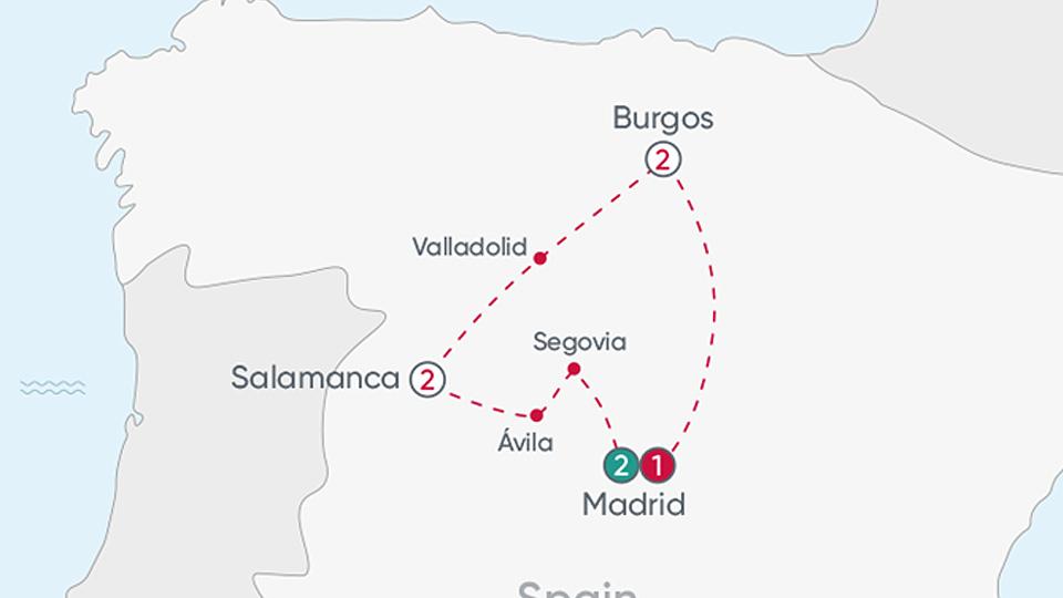 Spanish Heritage Explorer Map