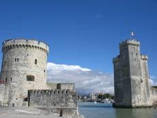Towers guarding La Rochelle harbour