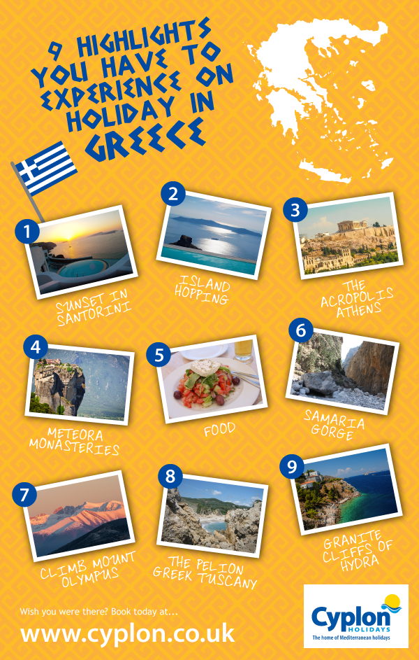 9 Highlights of a Holiday in Greece