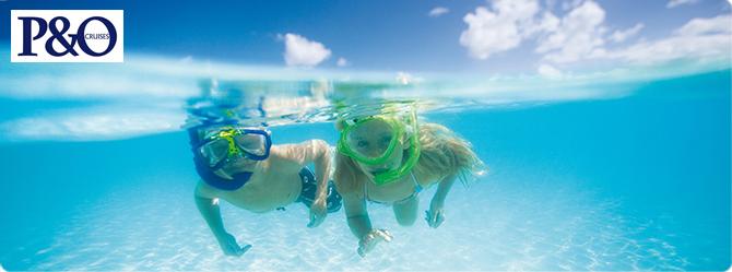 Kids snorkeling
