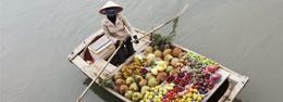 Mercado flotante asiático