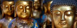 Figuras de Budas en distintos materiales