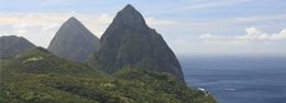 Las Pitones en la isla de Santa Lucía