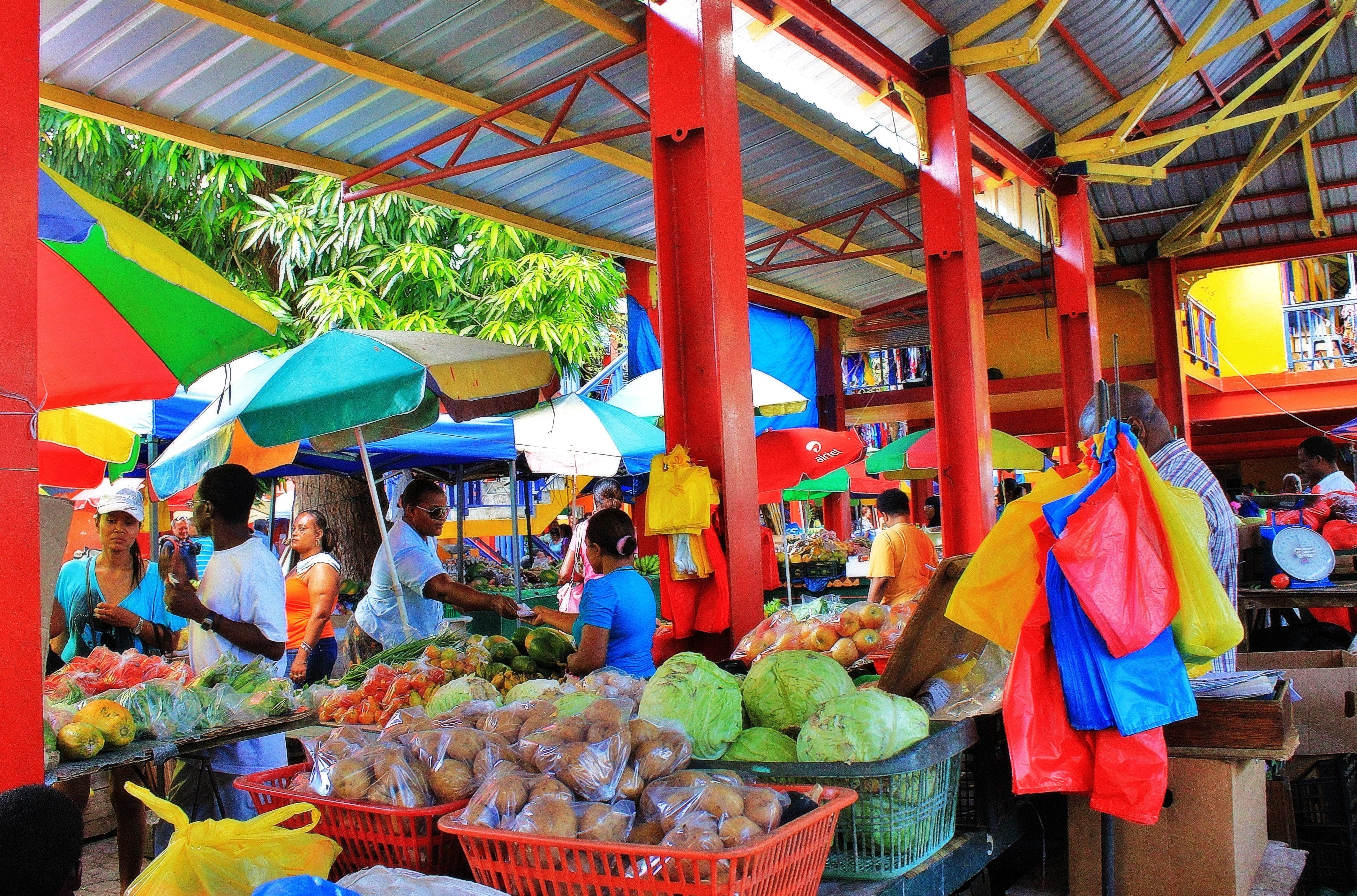 Market in Seychelles