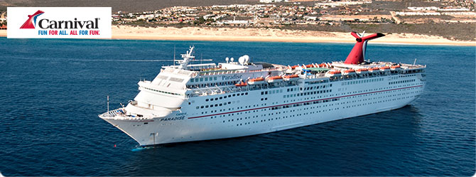 Carnival Cruises with Carnival Paradise