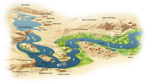 Royal Esadora Nile Cruise map