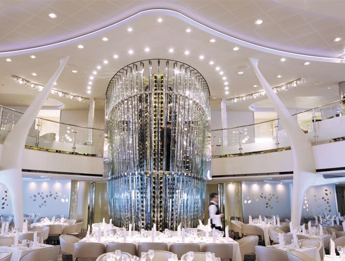 Cruceros Celebrity Cruises, Gastronomía a bordo