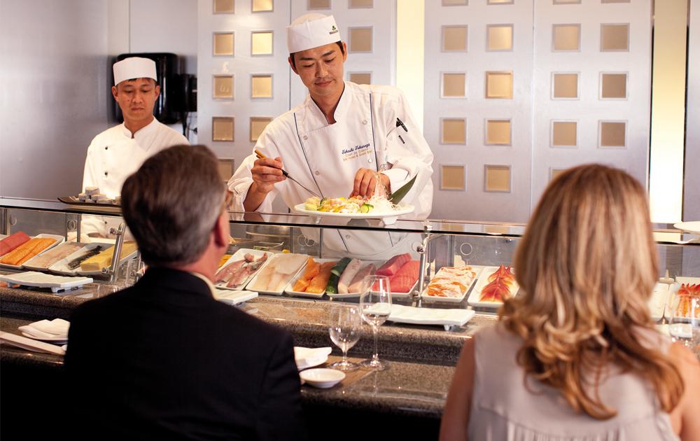Sushi Bar en Crystal Cruises