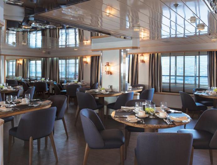 Retaurante Discoverer Lounge de Silversea