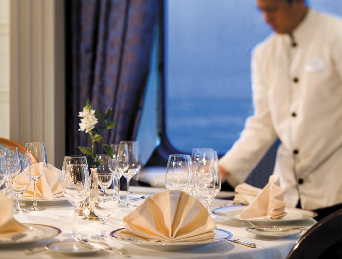 Restaurante en Silversea Expedition