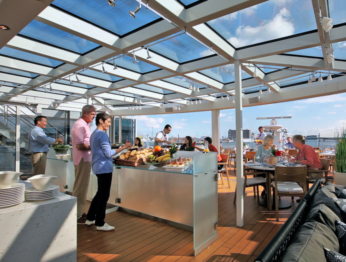 Terraza Aquavit en Viking River Cruises