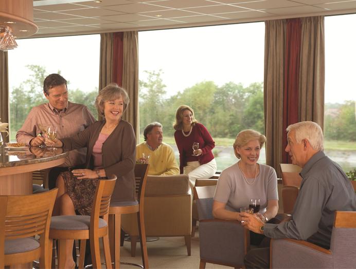 Salón Panorámico en Viking River Cruises