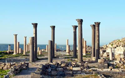 Stop off at the Um Qais Ruins
