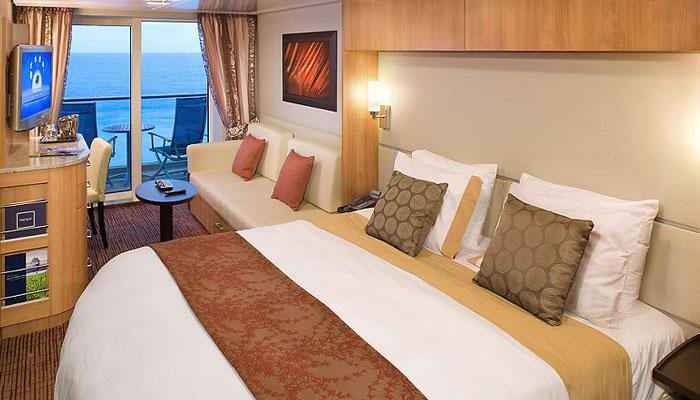 Cruceros Celebrity Cruises, Habitación con balcón