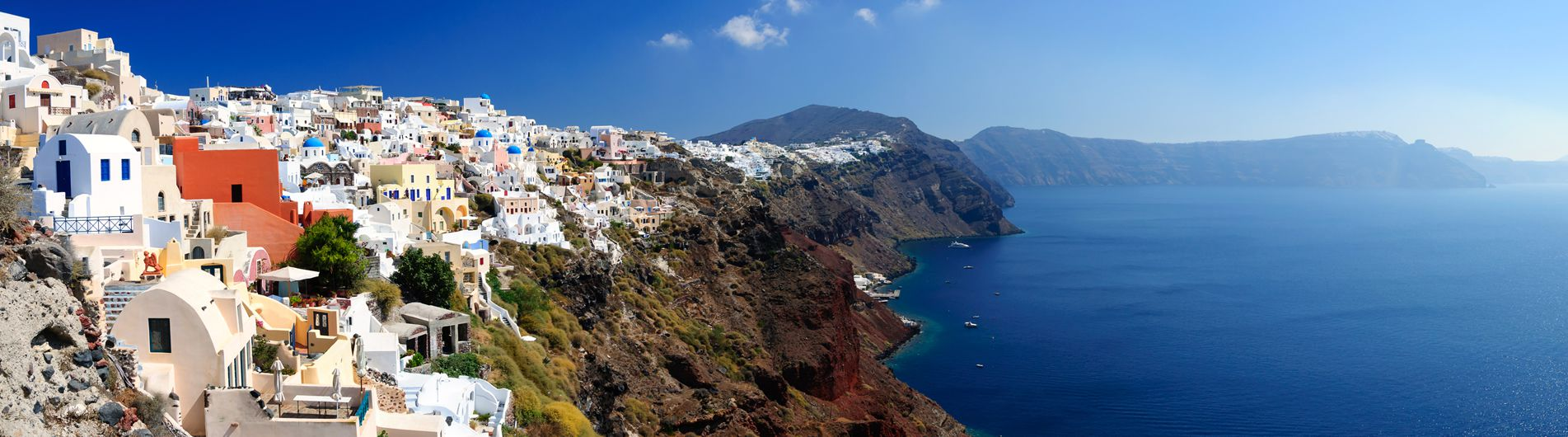 Passing Through Santorini