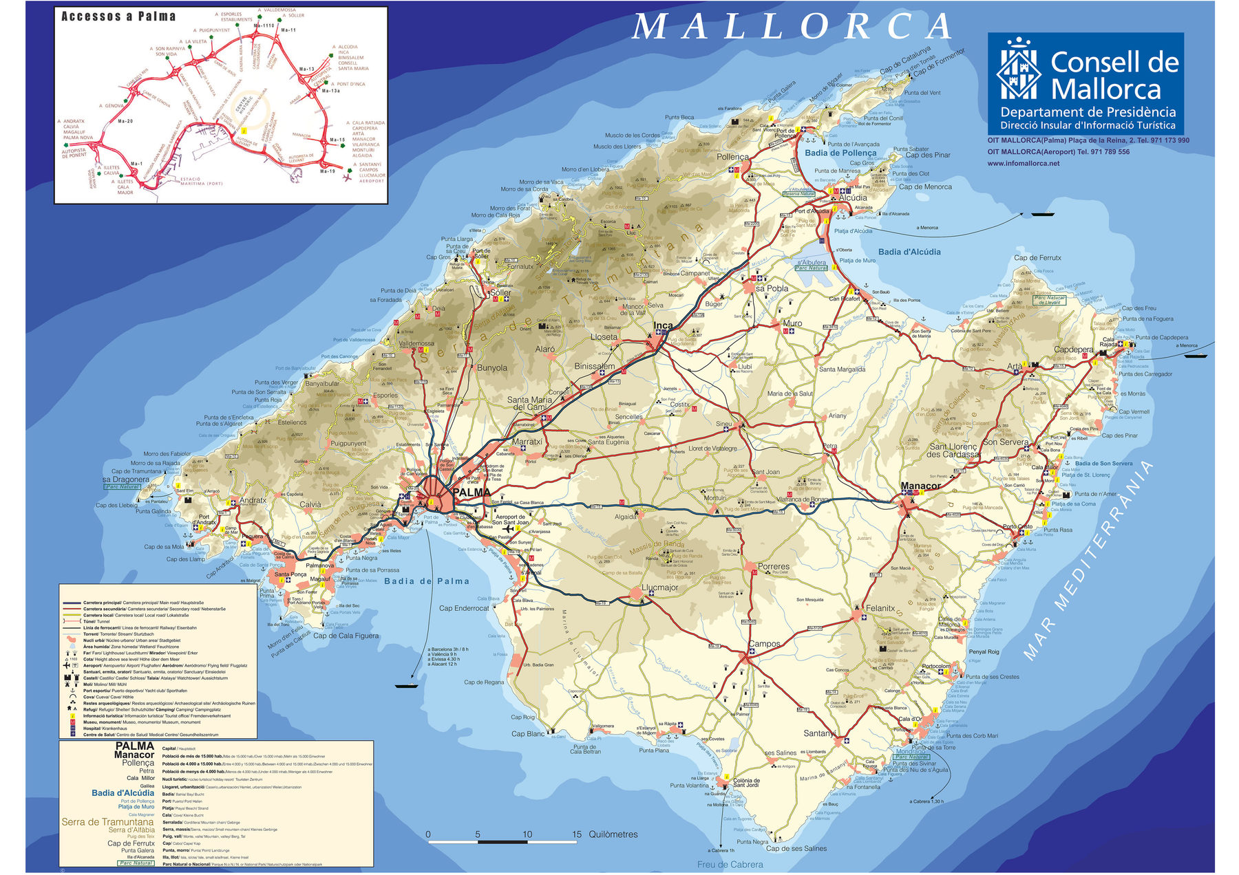 Download a Detaild Map of Majorca
