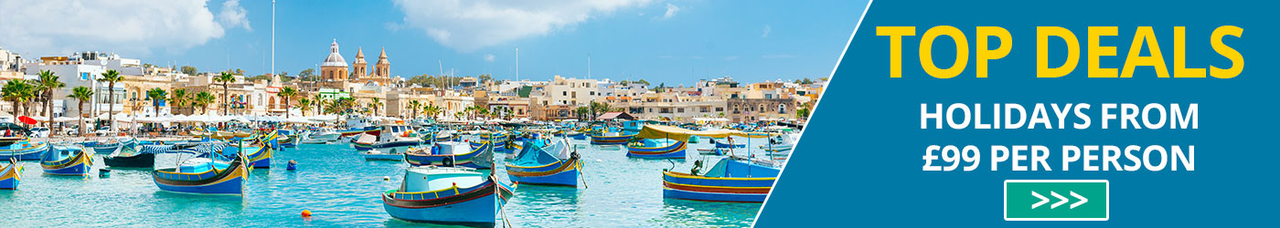 Top Holiday Deals  to Malta